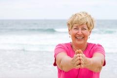 Mulher idosa feliz Imagens de Stock Royalty Free