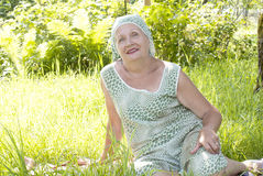 Mulher idosa feliz Fotografia de Stock