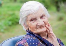 Mulher idosa feliz Imagem de Stock
