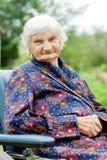 Mulher idosa feliz Imagens de Stock