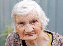 Mulher idosa feliz Foto de Stock Royalty Free