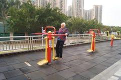 Mulher idosa no exercício Foto de Stock