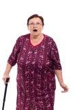 Mulher idosa surpreendida imagens de stock royalty free