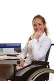 Mulher incapacitada no trabalho Foto de Stock Royalty Free