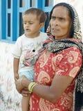 Mulher indiana com uma criança Foto de Stock