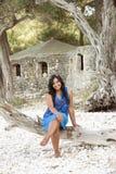 Mulher indiana de sorriso feliz. fotografia de stock royalty free