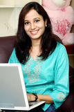 Mulher indiana feliz Fotos de Stock Royalty Free