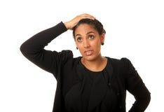 Mulher indiana preocupada Fotografia de Stock Royalty Free