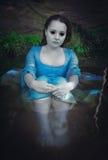 Mulher inoperante bonita do fantasma imagens de stock