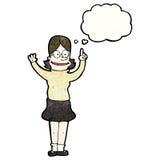 mulher inteligente dos desenhos animados ilustração do vetor