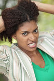 Mulher irritada imagens de stock royalty free