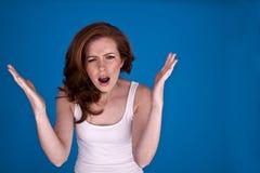 Mulher irritada. Fotos de Stock