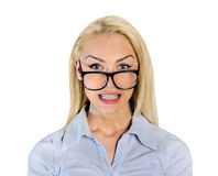 Mulher irritada Imagens de Stock