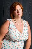 Mulher irritada com alguém Fotos de Stock