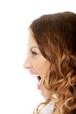 Mulher irritada que grita Imagens de Stock Royalty Free