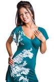 Mulher isolada consideravelmente de sorriso imagem de stock royalty free