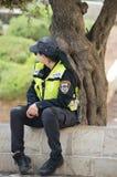 Mulher israelita na polícia Imagem de Stock Royalty Free
