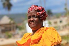 Mulher jamaicana do vendedor ambulante Fotos de Stock Royalty Free