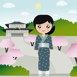 Mulher japonesa ilustração royalty free