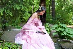 Mulher japonesa bonita Foto de Stock Royalty Free
