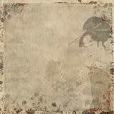 Mulher japonesa da gueixa no vestido tradicional ilustração do vetor