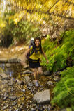 A mulher jejua caminhante Foto de Stock