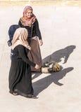 Mulher jordana que canta Imagens de Stock
