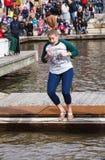 Mulher Jumper Virginia Polar Dip Imagem de Stock Royalty Free