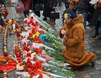 A mulher lamenta protestadores matados Imagem de Stock Royalty Free