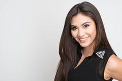 Mulher latino-americano feliz fotografia de stock royalty free