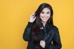 Mulher latino-americano feliz fotos de stock royalty free