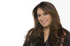 Mulher latino-americano feliz nova que ri e que sorri Imagens de Stock Royalty Free