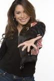 Mulher latino-americano feliz nova que ri e que sorri Fotos de Stock Royalty Free