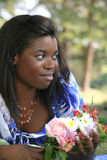 Mulher lindo do americano africano, retrato Fotografia de Stock Royalty Free