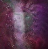 Mulher longa do cabelo sob a água imagem de stock