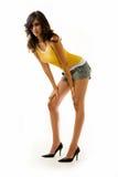 Mulher longa do pé Foto de Stock