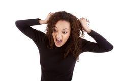 Mulher louca Imagem de Stock