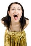 Mulher louca Fotos de Stock