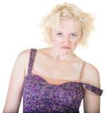 Mulher louca com correia fora Imagem de Stock Royalty Free