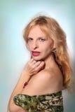 Mulher loura bonita fotografia de stock royalty free