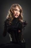 Retrato sensual do estilo do vintage Foto de Stock