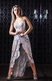 Mulher loura com composição colorida Fotografia de Stock Royalty Free