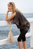 Mulher loura com vidros de sol fotos de stock royalty free
