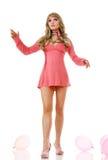 Mulher loura da boneca imagem de stock royalty free
