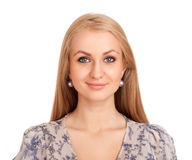 Mulher loura de sorriso Imagem de Stock Royalty Free