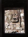 Mulher loura em Angkor Thom Foto de Stock