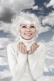 Mulher loura emocional Foto de Stock