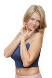 Mulher loura nova Fotografia de Stock Royalty Free