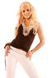 Mulher loura 'sexy' imagem de stock royalty free