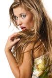 Mulher loura 'sexy' e bonita imagens de stock